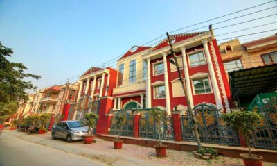 front view of Cymbal Guest House Sector 31 Gurgaon